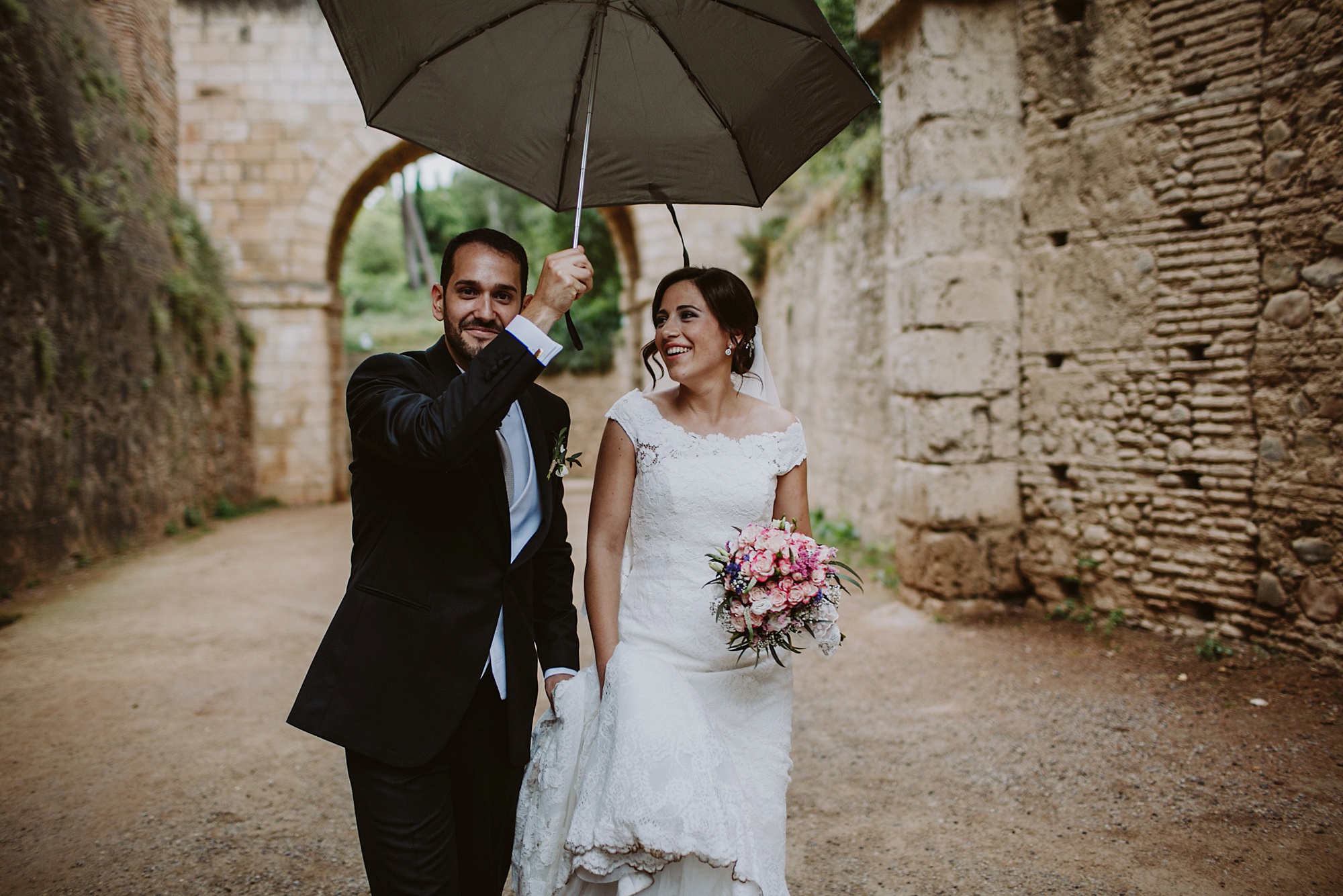 rainy wedding day granada