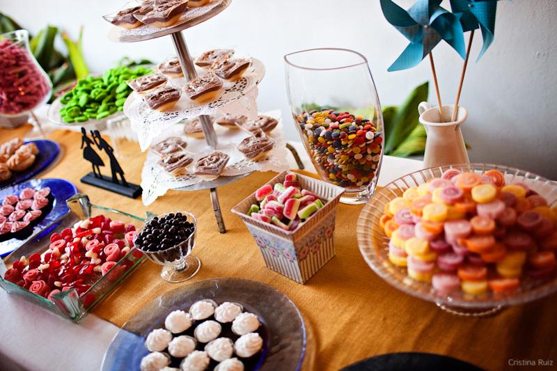 Mesa de caramelos en ceremonia civil