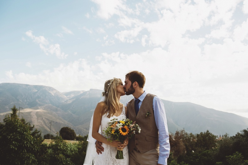 rural civil wedding alpujarra granada